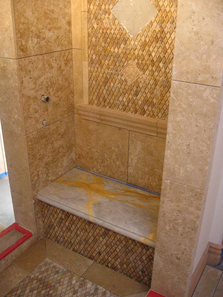 Limestone Steam Shower  San Diego